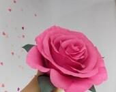 Giant Paper Rose, Alternative Bouquet, Big Bloom, Huge Paper Flower, Decoration, UK