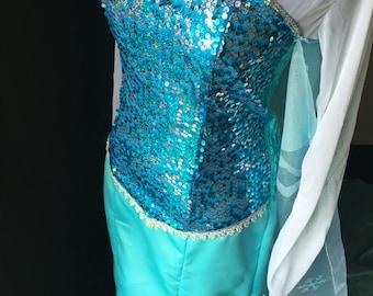 Elsa dress adult frozen cosplay