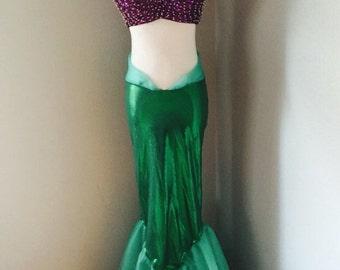 Little mermaid costume set finn and top