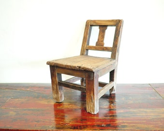 Antique Kids Chair, Vintage Distressed Chair, Rustic Chair
