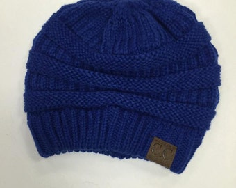 Beanie End of Season SALE!! - Slouchy Beanie, Royal Blue