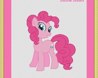 Cross Stitch Pattern Pinkie Pie My Little Pony Friendship Is Magic kids Counted Cross Stitch Pattern/Instant Download Epattern PDF File