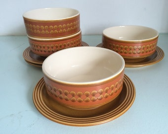 """Vintage Hornsea """"Saffran"""" bowl and saucer set"""