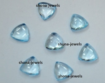 Lot Of 10 Pieces Sky Blue Topaz Trillion Cabochon Calibarated loose gemstone with free shipping