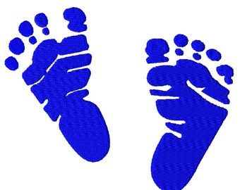 Baby Real Footprints Fill Embroidery Design file Instant Download