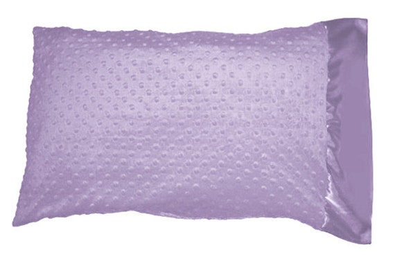 lilac lavender minky dot pillowcase pillow case with lilac. Black Bedroom Furniture Sets. Home Design Ideas
