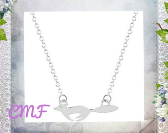 Fox Necklace 925 Sterling Silver Necklace Fox Pendant (002)