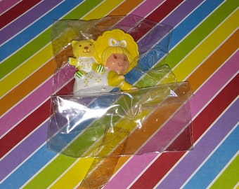 Vintage 1980s Strawberry Shortcake Butter Cookie Mini PVC Figure in Original Kenner Bag
