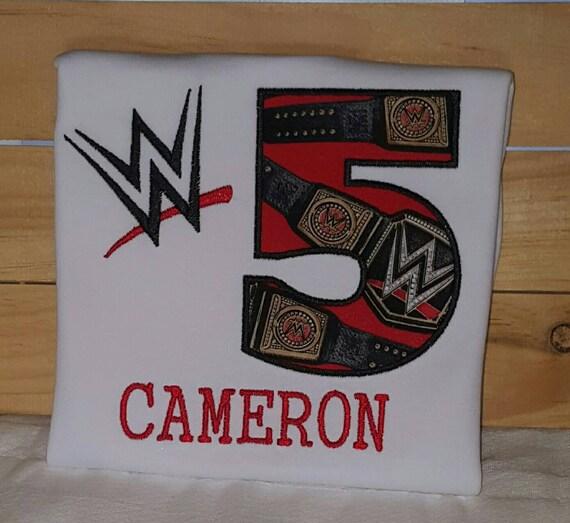WWE Birthday Shirt