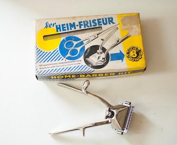 vintage hair trimmer home barber kit beard clipper in. Black Bedroom Furniture Sets. Home Design Ideas