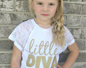 Little Diva Dolman Sleeve T-shirt for girls