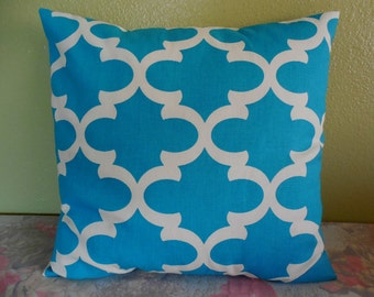 Pillow cover decorative throw pillow blue pillow case geometric pillow modern dorm pillow many colors