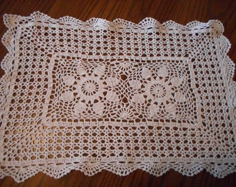Hand Crochet Placemats, Set of 4
