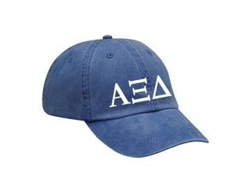 axid alpha xi delta letters hat choose your colors sorority hat