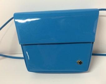 Vintage Walborg blue patent leather purse