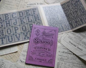 Sajou Mauve Cross Stitch Album 108- French Vintage Alphabets