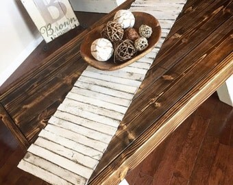 Wooden Table Runner   Rustic Home Decor   Tabletop Centerpiece   Tabletop  Decor   Farmhouse Decor