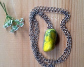 Yellow Howlite Soldered Necklace/Gypsy Jewelry/ Metaphysical / Pagan Necklace/ Stone Healing Jewelry/ Charka Jewelry/Soldered Necklace