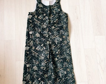 SALE!! Ready to Ship! Handmade Boys Liberty of London Print Romper in Kevin Tana Lawn age 6-12m