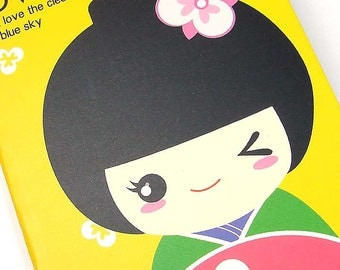 Kawaii geisha notebook
