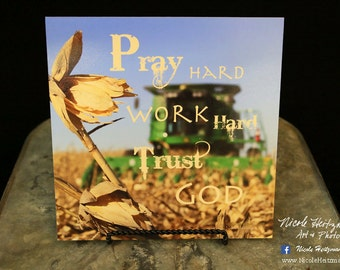 Harvest Photo Harvest Photography Farm print Farm quote farm saying John Deere Combine print Combine print Farming photo by Nicole Heitzman