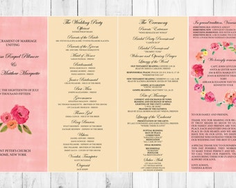 Printable Wedding Program, personalized wedding program, customized wedding program, wedding book