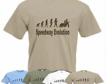 Evolution To Speedway t-shirt Motorcycle speedway Funny T-shirt sizes Sm TO 2XXL