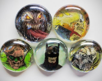 Large 5 to 15 Comic Book Magnets