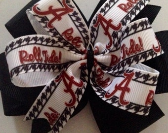 Alabama Roll Tide Boutique Pinwheel Hairbow