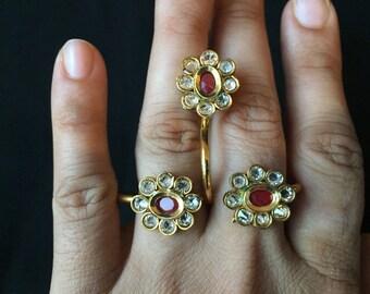 Adjustable Dual Finger Ring | Adjustable Finger Ring | Adjustable Two Finger Ring