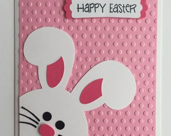 Handmade Easter Card, Bunny, Rabbit, Happy Easter