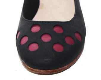 handmade shoe Ballerina Pois