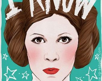Princess Leia Knows (signed prints) © Iván García