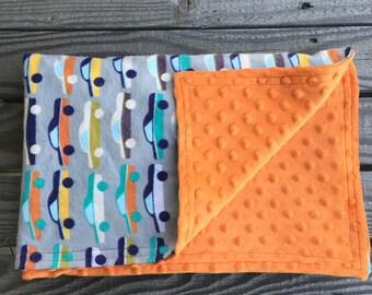 Baby Blanket, Minky Baby Blanket, Flannel blanket, Receiving Blanket, Car Blanket, Baby Shower Gift, Baby Boy Blanket