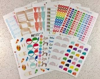 B004 - Planner Sticker Bundle - 11 Discontinued Sticker Sheets