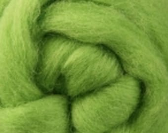 Lime Corriedale Wool Roving One Ounce for Felting and Spinning