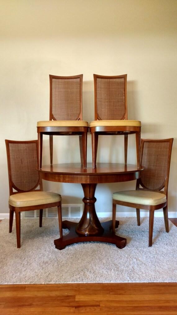 mid century drexel dining set cane by prorefinefurnishings