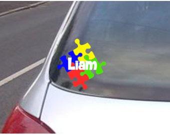 Autism Awareness Puzzle Car Decal