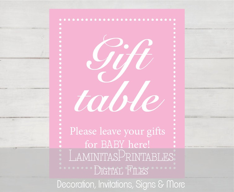 gift table sign baby shower baby shower decor table signs