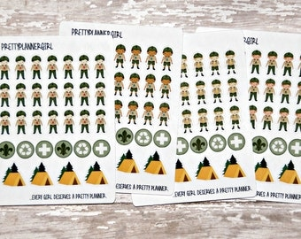 Boy Scouts inspired Stickers