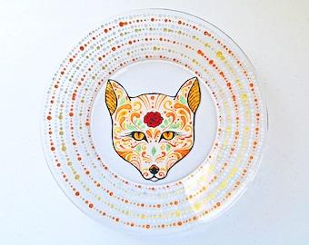 Fox Gifts Fox Decor Fox Art Fox Plate Fox Home Decor