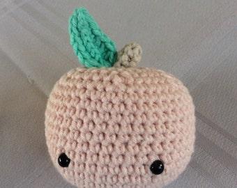 Pale pink Apple crochet