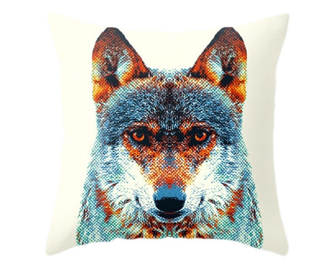 Wolf Pillow - Colorful Animals
