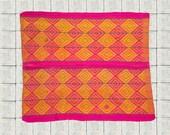 BOHEMIAN RUG - Peruvian rug, Peruvian blanket, Frazada, Bohemian rug from Peru, Tribal rug, Boho rug, Colorful rug, Tribal rug, Boho decor.