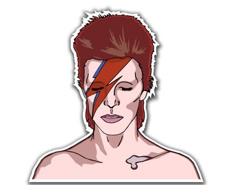 David Bowie Sticker Decal - Stardust