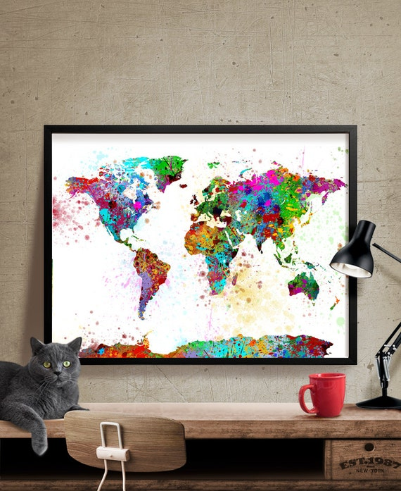 Map art map print home decor wall art boyfriend gift Home decor wall decor australia
