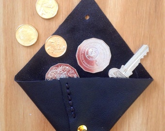 Trism black leather coin purse