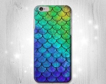 Mermaid Fish Scale iPhone 6S 6 Plus 6+ SE 5 5S 5C 4 Htc One M8 M7 Samsung Galaxy S7 S6 Edge+ S5 S4 S3 mini Note 5 4 3 Case