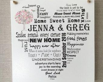 Housewarming wooden New Home Plaque Sign Memories Keepsake Gift W142