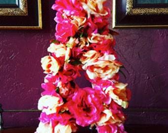 Floral Initial Canvas Letter